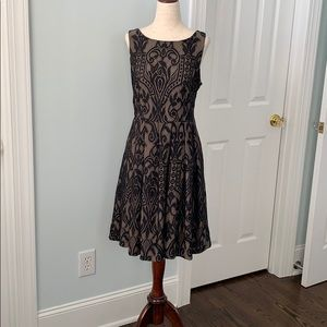 Eva Franco Black Lace A-line dress.  SZ 8